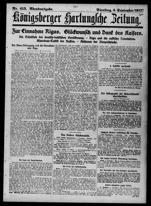 Königsberger Hartungsche Zeitung vom 04.09.1917