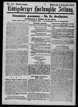Königsberger Hartungsche Zeitung on Sep 5, 1917