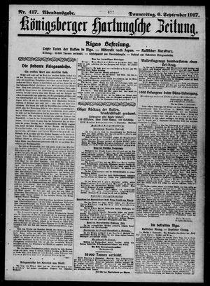 Königsberger Hartungsche Zeitung vom 06.09.1917