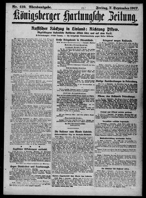 Königsberger Hartungsche Zeitung vom 07.09.1917