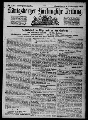 Königsberger Hartungsche Zeitung vom 08.09.1917