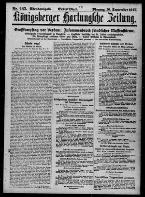 Königsberger Hartungsche Zeitung on Sep 10, 1917