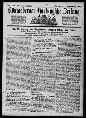 Königsberger Hartungsche Zeitung vom 11.09.1917