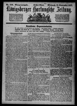 Königsberger Hartungsche Zeitung vom 12.09.1917