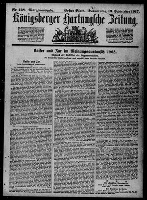 Königsberger Hartungsche Zeitung vom 13.09.1917