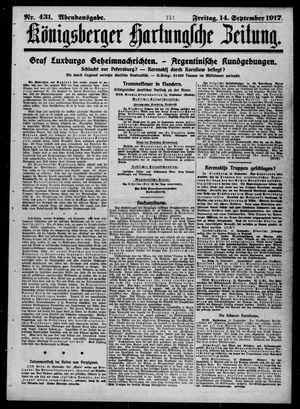 Königsberger Hartungsche Zeitung vom 14.09.1917
