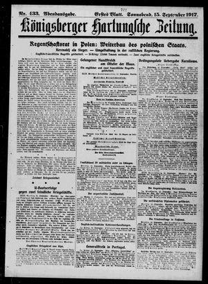 Königsberger Hartungsche Zeitung vom 15.09.1917