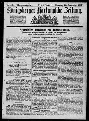 Königsberger Hartungsche Zeitung vom 16.09.1917