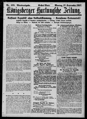 Königsberger Hartungsche Zeitung vom 17.09.1917