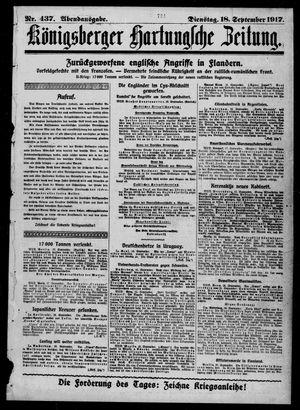 Königsberger Hartungsche Zeitung vom 18.09.1917