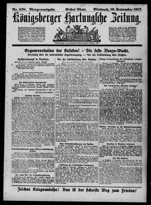 Königsberger Hartungsche Zeitung vom 19.09.1917