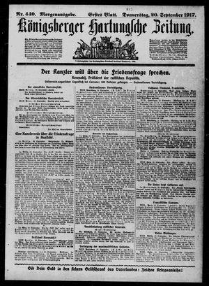 Königsberger Hartungsche Zeitung vom 20.09.1917