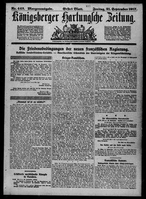 Königsberger Hartungsche Zeitung vom 21.09.1917