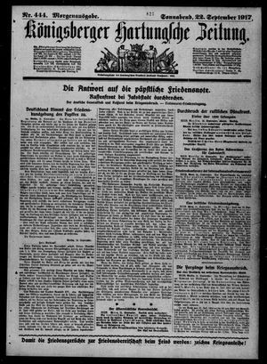 Königsberger Hartungsche Zeitung vom 22.09.1917