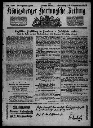 Königsberger Hartungsche Zeitung vom 23.09.1917