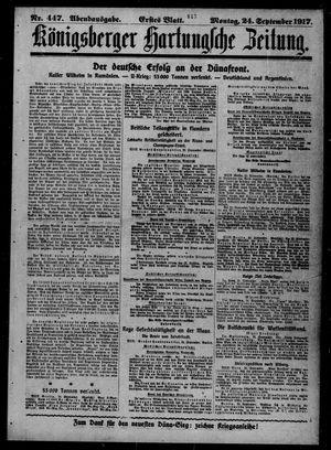 Königsberger Hartungsche Zeitung vom 24.09.1917