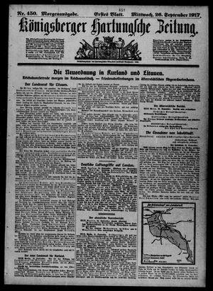 Königsberger Hartungsche Zeitung vom 26.09.1917