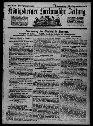 Königsberger Hartungsche Zeitung vom 27.09.1917