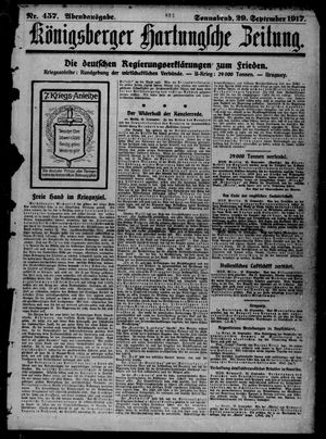 Königsberger Hartungsche Zeitung vom 29.09.1917