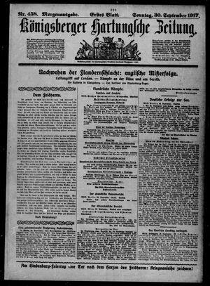 Königsberger Hartungsche Zeitung vom 30.09.1917