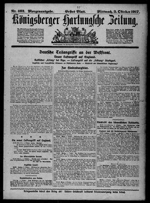 Königsberger Hartungsche Zeitung vom 03.10.1917