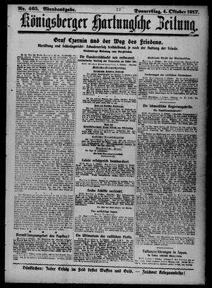 Königsberger Hartungsche Zeitung on Oct 4, 1917