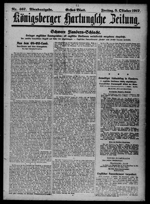 Königsberger Hartungsche Zeitung vom 05.10.1917