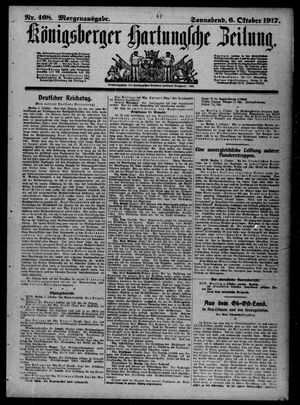 Königsberger Hartungsche Zeitung vom 06.10.1917