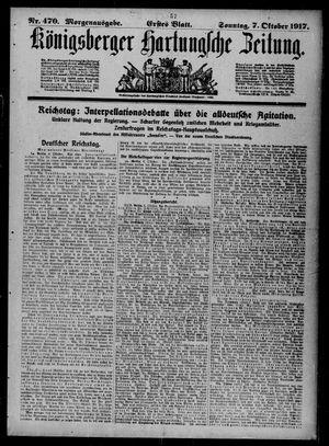 Königsberger Hartungsche Zeitung vom 07.10.1917