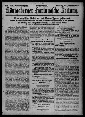 Königsberger Hartungsche Zeitung vom 08.10.1917