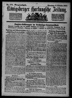 Königsberger Hartungsche Zeitung vom 09.10.1917