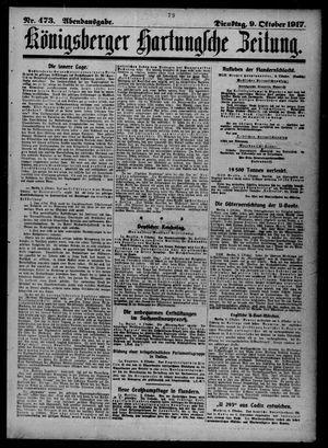 Königsberger Hartungsche Zeitung on Oct 9, 1917