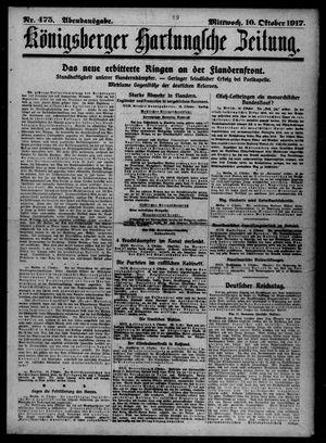 Königsberger Hartungsche Zeitung vom 10.10.1917