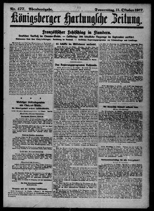 Königsberger Hartungsche Zeitung vom 11.10.1917