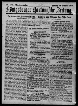 Königsberger Hartungsche Zeitung vom 12.10.1917