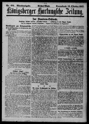 Königsberger Hartungsche Zeitung vom 13.10.1917