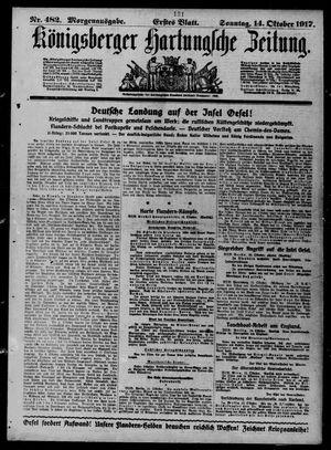 Königsberger Hartungsche Zeitung on Oct 14, 1917