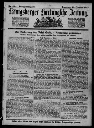 Königsberger Hartungsche Zeitung vom 16.10.1917