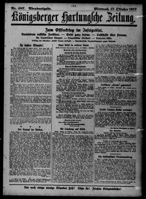 Königsberger Hartungsche Zeitung vom 17.10.1917