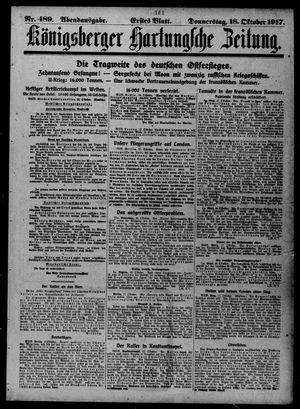 Königsberger Hartungsche Zeitung vom 18.10.1917