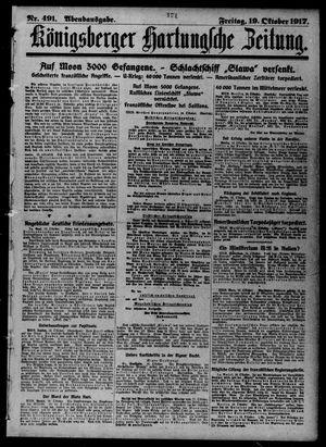Königsberger Hartungsche Zeitung vom 19.10.1917