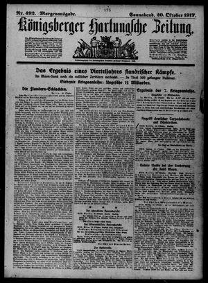 Königsberger Hartungsche Zeitung vom 20.10.1917