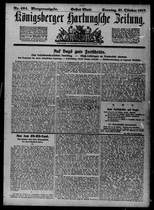 Königsberger Hartungsche Zeitung vom 21.10.1917