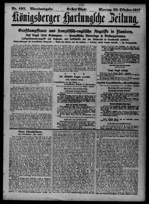 Königsberger Hartungsche Zeitung vom 22.10.1917
