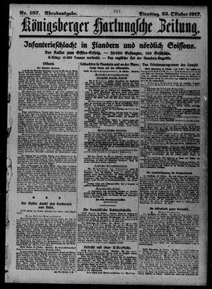 Königsberger Hartungsche Zeitung vom 23.10.1917