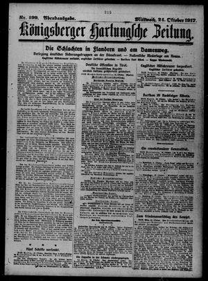 Königsberger Hartungsche Zeitung vom 24.10.1917