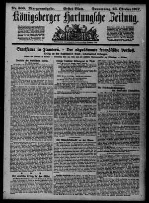 Königsberger Hartungsche Zeitung vom 25.10.1917