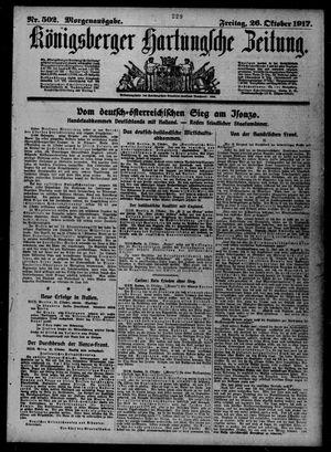 Königsberger Hartungsche Zeitung vom 26.10.1917