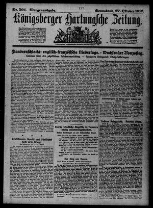 Königsberger Hartungsche Zeitung vom 27.10.1917