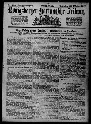 Königsberger Hartungsche Zeitung vom 28.10.1917